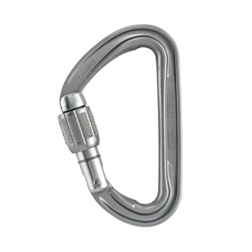 PETZL Spirit Screw-Lock Carabiner Schraubkarabiner, Gray, One Size