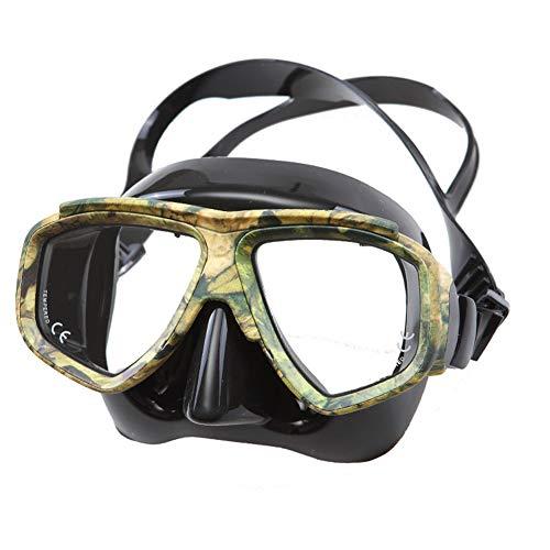 YWYW Máscara De Buceo, Camuflaje De Silicona Máscara del Salto, Antivaho HD Anti-Destruir Gafas, Conveniente para El Buceo/Natación