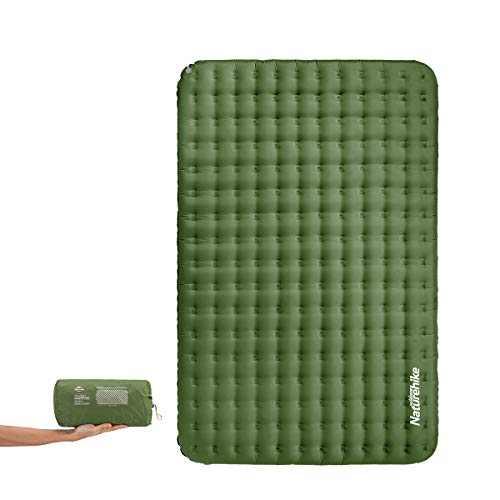 Naturehike Double Sleeping Pad - Inflatable Camping Air Mattress - Light and Compact - for Backpacking, Self-Driving Tour, Hiking, Tent