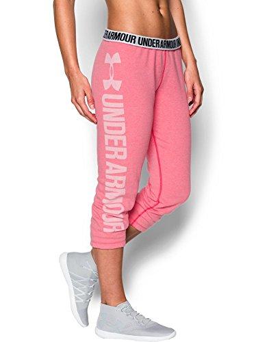 Under Armour Damen Fitness Hose Favorite Fleece Capri Hosen & Shorts, Knock Out, L