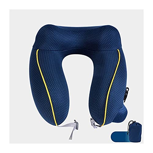 TUAN Almohadas de Cuello de avión, reposacabezas Plegables para el Cuello del Cuello del Cuello del Cuello del Cazador de la Camilla (Color : Blue)