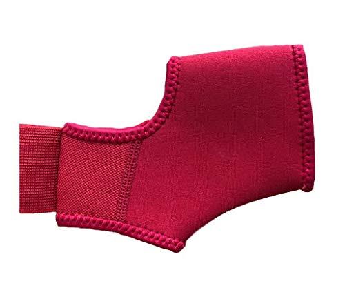 Bigood 1pcs Bande de Chevillières Compression Support Protection Maintien des Pieds Rouge