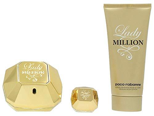 Paco Rabanne Lady Million Privé Lote Agua de Perfume Vaporizador, Loción Corporal y Agua de Perfume Vaporizador - 155 ml