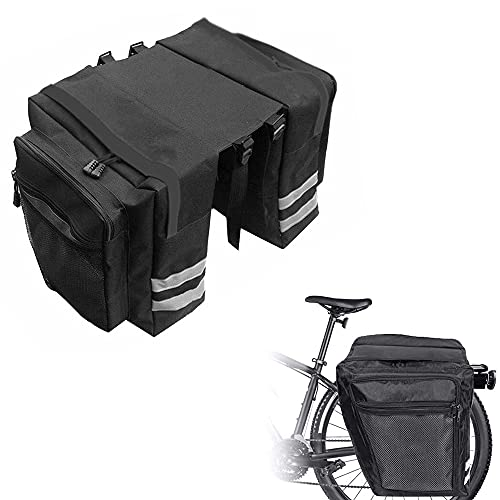 Bolsas Bicicletas Traseras, Alforjas Bicicleta Impermeable, Bolsa Asiento Trasero Bicicleta, Bolsa Alforja Trasera para Bicicleta, Bolsa Doble Bicicleta, para Ciclismo, Viajes, Diario, Camping