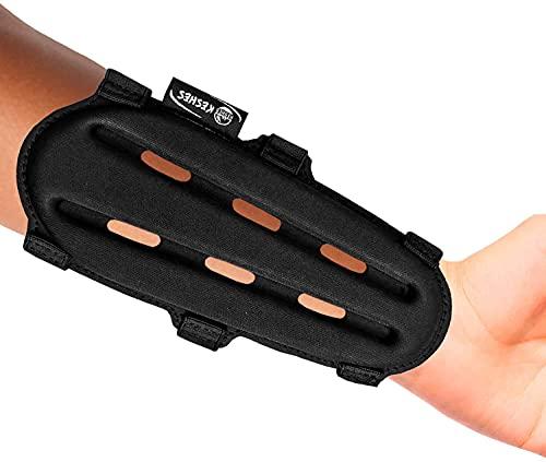 KESHES Protector de brazo con arco – Protector de brazo ajustable para antebrazo para caza de arco accesorios para jóvenes y adultos … (9)