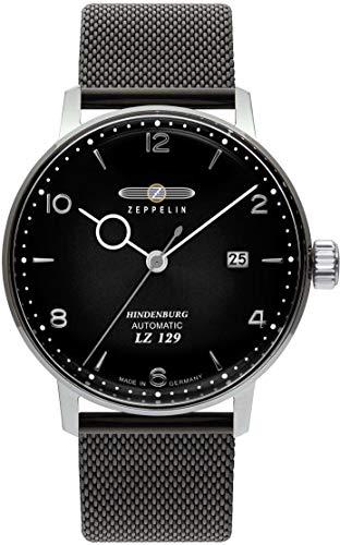 Zeppelin Automatik Herrenuhr LZ129 Hindenburg Milanaiseband schwarz 8062-M2