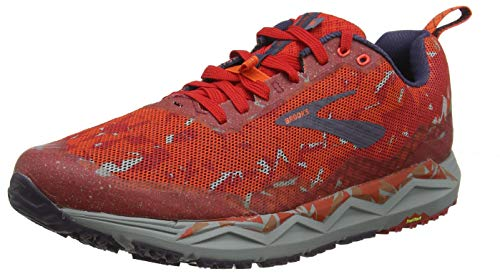 Brooks Caldera 3, Zapatillas de Running para Hombre, Rojo (Red/Orange/Grey 636), 44 EU