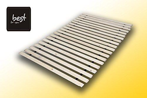 Best For You Lattenrost aus 20 massiven stabilen Holzlatten Geeignet für alle Matratzen - in viele Größen 60x120 cm - 160x200 cm (90x200-20)