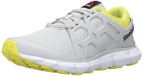 Reebok Men's Hexaffect Run 4.0 MTM Shoe, Black/White, 12 M US
