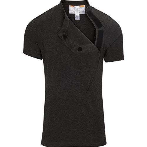 DadWare Original Bondaroo Skin to Skin Kangaroo Care Bonding T-Shirt (Char Large) Charcoal