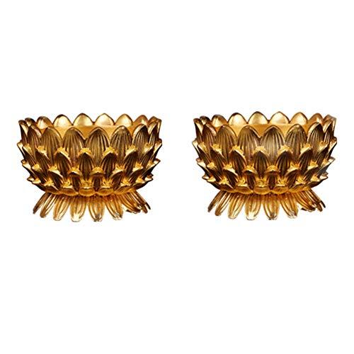 Uonlytech 2 piezas ghee portalámparas lotus votivo candelabros diyas lámparas de aceite...