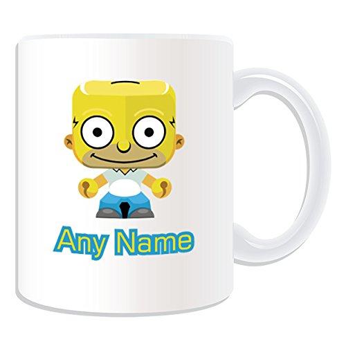 De regalo con mensaje personalizado - posavasos (Simpsons diseño de familia de, blanco) - nombre personalizable para/de mensaje tu taza diseño de - Homer