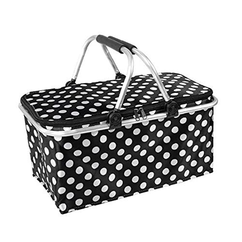 Picnic cesto portatile pieghevole oxford panno capacità campeggio isolato sacchetto pranzo da picnic cestino e zaino