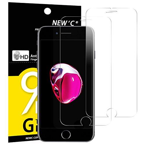 NEW'C 2 Stück, PanzerglasFolie Schutzfolie für iPhone 7, iPhone 8, Frei von Kratzern Fingabdrücken und Öl, 9H Härte, HD Displayschutzfolie, 0.33mm Ultra-klar, Ultrabeständig