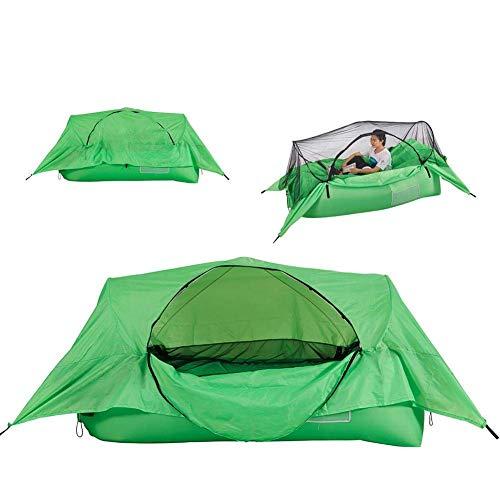 YVX Aufblasbares Campingzelt Tragbares Luftbettsofa Wasserdichtes Doppelschichtzelt Ultraleichtes Rucksackzelt zum Wandern Camping Bergsteigen und Reisen im Freien
