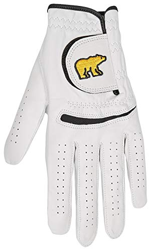 Jack Nicklaus Men's Golden Bear Leather Golf Glove, bright white