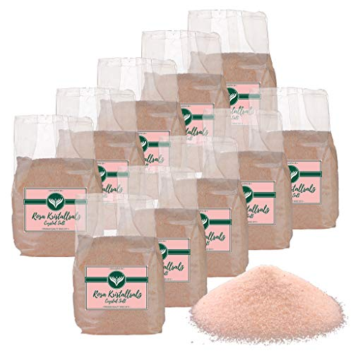 Azafran Rosa Kristallsalz (bekannt als Himalaya Salz) Steinsalz Ursalz fein 10kg