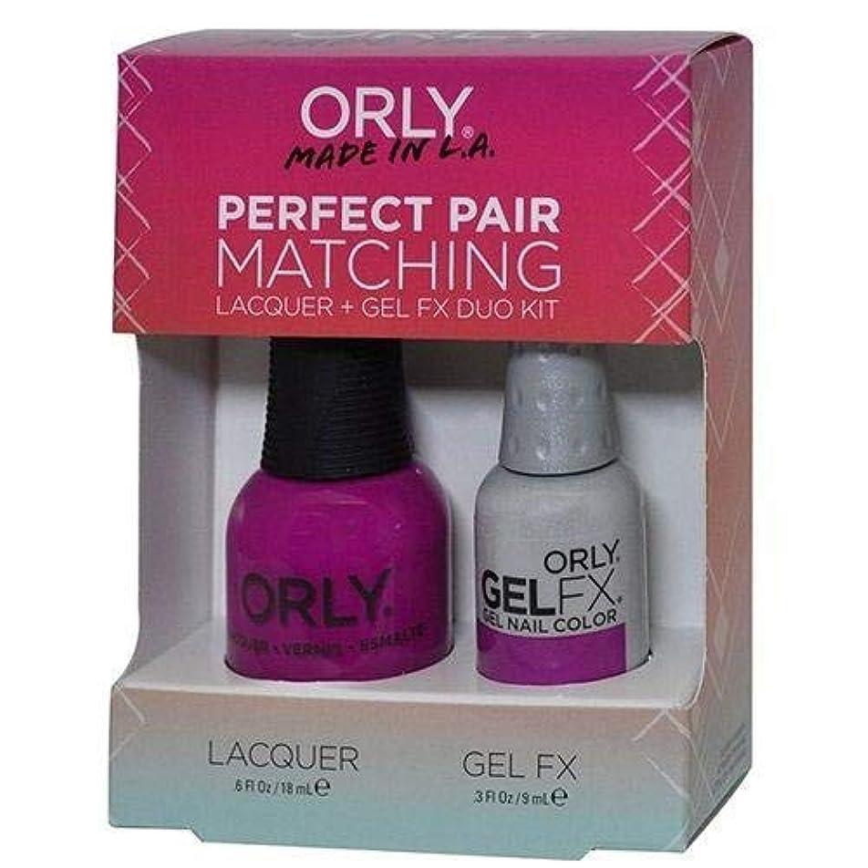 円形の引き受ける飛行場Orly Nail Lacquer + Gel FX - Perfect Pair Matching DUO - Purple Crush