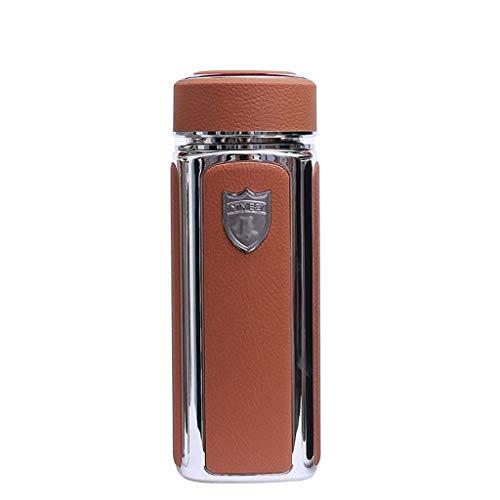 hkwshop Jarra de Agua S999 Sterling Silver Thermos De Gama Alta para Empresas de Salud para Hombres y Mujeres Oficina de obsequios con Taza de vacío Tetera para té Helado (Color : Brown)
