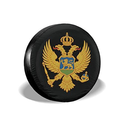 BI HomeDecor Tire Protector,Cubierta De Rueda con Logotipo De Bandera De Montenegro, Cubiertas De Neumáticos Duraderas De Temporada para Rueda De Camión De Automóvil RV,60-69cm