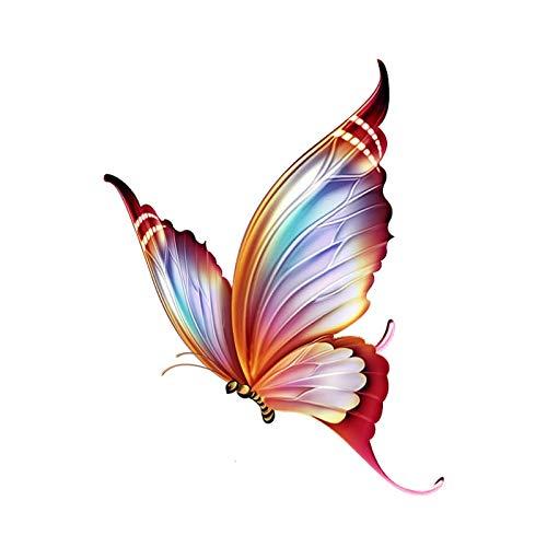 RUIRUI Mode dekorative Cartoon Schmetterling Motorrad Auto Aufkleber 11,8 cm * 15,1 cm