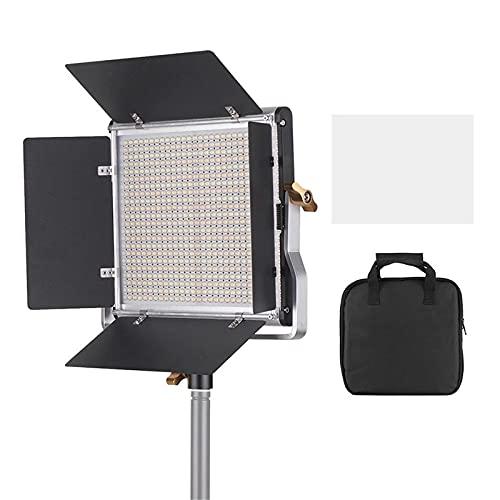 Luz de Video LED Luz De Video LED 3200-5600K CRI 85+ con Soporte DE SU Soporte & BARNDOOR Lighting Kit Portátil y Multifuncional (Color : Black, Size : One Size)