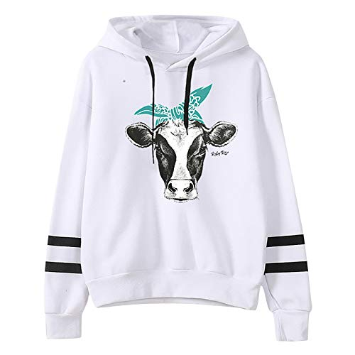 Women's Blouse, Women's Animal Print Round Neck Pullover Hooded Long Sleeve Sweatshirt, Clothing for Women...