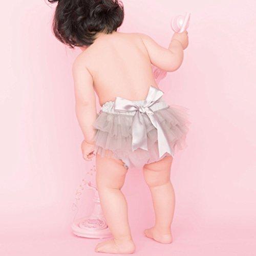 コ-ランド Co-land コ-ランド Co-land ベビー ブルマ 女の子 おむつカバー ショートパンツ 赤ちゃん 可愛い チュール リボン飾り ヘアバンド付き L グレー