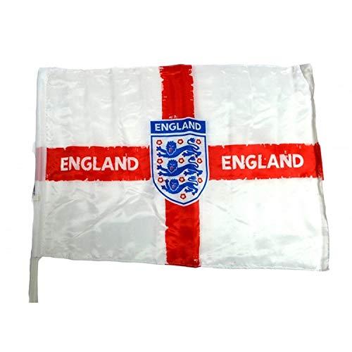 Unbekannt England Autoflagge mit offiziellem Fußball-Wappen (Einheitsgröße) (Weiß/Rot/Blau)