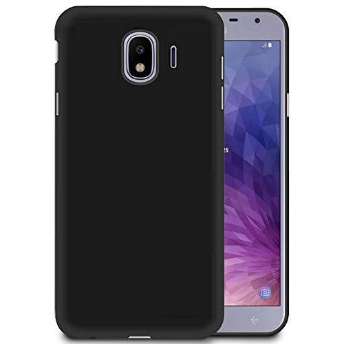 MyCase Ultra-Slim Housse Noir pour Samsung Galaxy J2 Core | TPU Coque Couleur Unie