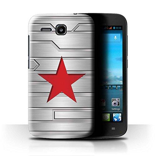Hülle Für Huawei Ascend Y600 Antiheld Comic-Kunst Winter Soldier Inspiriert Design Transparent Ultra Dünn Klar Hart Schutz Handyhülle Case