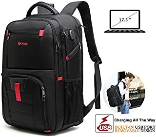 17.3 Inch Laptop Backpack, Extra Large Laptop Backpack for Women/Men, TSA Approved Backpack with USB Charger Port, Waterproof Business Travel College Backpack with Luggage Strap Fits 17 Inch Laptop