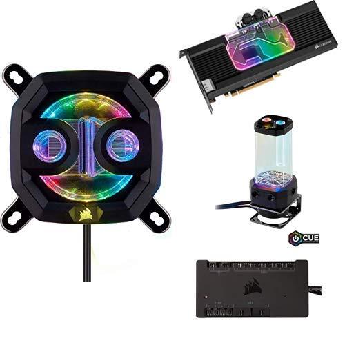Corsair Hydro X Series XC7 RGB CPU-Wasserkühler + GPU-Wasserkühler + Pumpen/Ausgleichsbehälter-Kombination + Commander PRO digitaler Lüfter- und RGB Beleuchtung-Controller