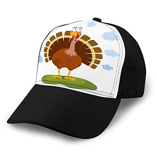 Baseball Hüte für Männer Low Profile Stylish Stoff Baseball Caps Cartoon lustige Türkei Classic Baseball Cap
