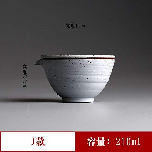 Glaseres - Jarrón manual de cerámica blanca de tres caos de porcelana blanca