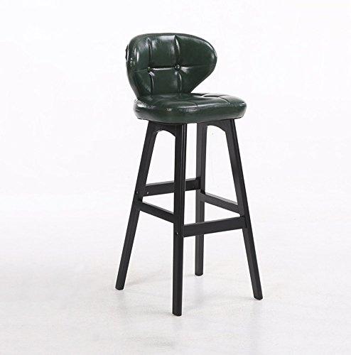Crazy stool Zhou-WD massief houten barstoel, zacht leer, comfortabel en ademend, goede elasticiteit, de onderkant kan de voet melk thee dranken Shop Bar zetten ontbijtstoel