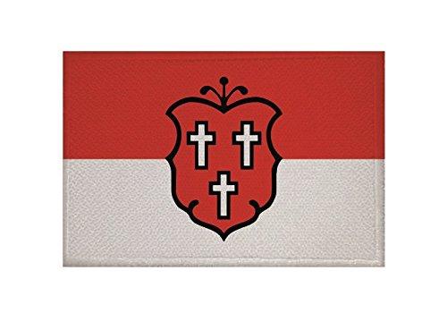 U24 Aufnäher Bad Lippspringe Fahne Flagge Aufbügler Patch 9 x 6 cm