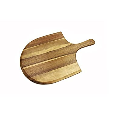 Heritage Acacia Wood Pizza Peel, Great for Homemade Pizza, Cheese and Charcuterie Boards - 22  x 14