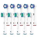 Brightdeal Cabezales de Repuesto para Braun Oral B Cepillo de Dientes Electricos - Recambios Cepillo Compatible con Oral-B Dientes Eléctrico ,5 Precision,5 Sensitive-10 Unidades