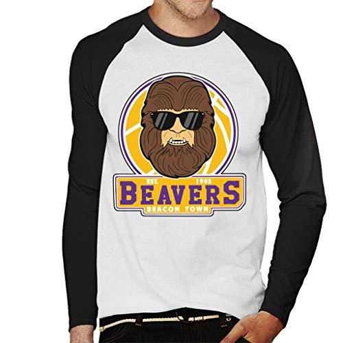 Beavers Est. 1985 Beacon Town Teen Wolf Long Sleeve Baseball Shirt for Men