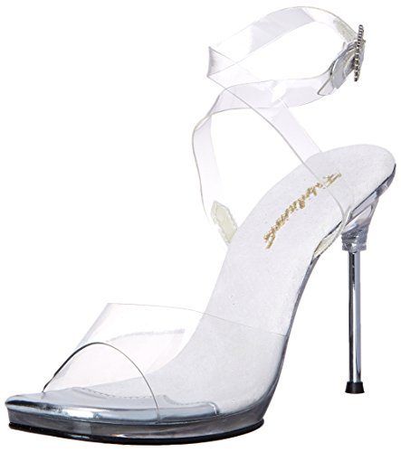 Fabulicious Damen CHIC-06 Pumps, Transparent (Clear), 38 EU