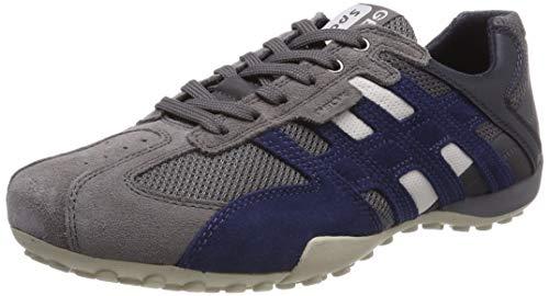 Geox Herren UOMO SNAKE K Sneaker, Grau (Grey/Navy C0665), 44 EU