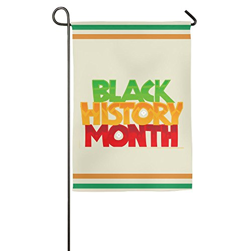 TTIWEP Black History Month Color Logo Garden Flag Indoor & Outdoor Decorative Flags for Parade Sports Game Family Party Wall Banner,1218inch