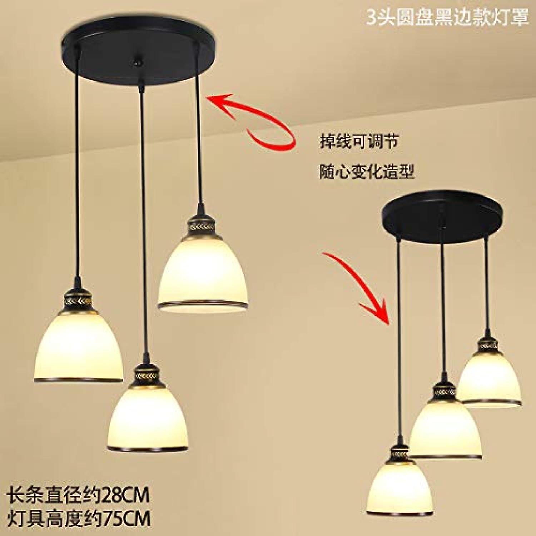 Licht [Replikas] - Kronleuchter American Restaurant Kronleuchter Esszimmer Tischlampen Deckenleuchten einfache Europische Retro-Anhnger Disc Hau