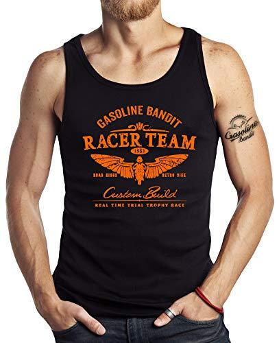 Gasoline Bandit Original Hot Rod Biker Tank-Top: Racer-Team orange-S