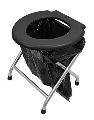 24ocean - Inodoro plegable (estructura de metal, color negro)