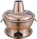 ZFQZKK Beijing Old Pot caliente, olla caliente de acero inoxidable 304, olla de carbón caliente Caja antigua Mongolia Mongolia Bomberos Raspador de olla caliente, disponible en interiores y exteriores