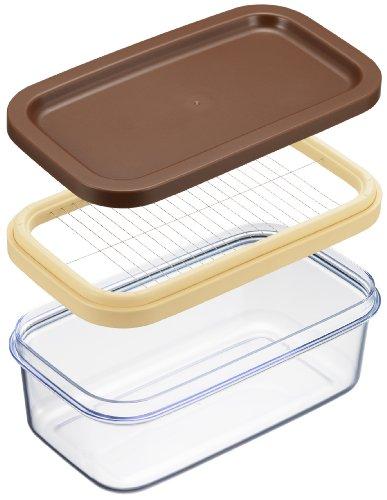 ヨシカワ 日本製 バターカッター 保存ができる クリア 200g用 ホームベーカリー倶楽部 SJ1994
