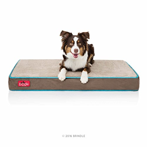 Brindle waterproof dog bed