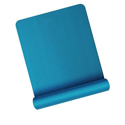 LDH Estera de Entrenamiento de La Esterilla Yoga Alfombra de Ejercicio Antideslizante Pilates Y Fitness Espesos Y Alargar Esteras de Ejercicios para Hombres 200 * 80 Cm (Color : Azul, Size : 10mm)